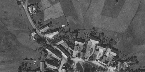 Snímek obce zroku 1956