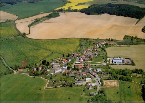 Letecký snímek obce zroku 2007